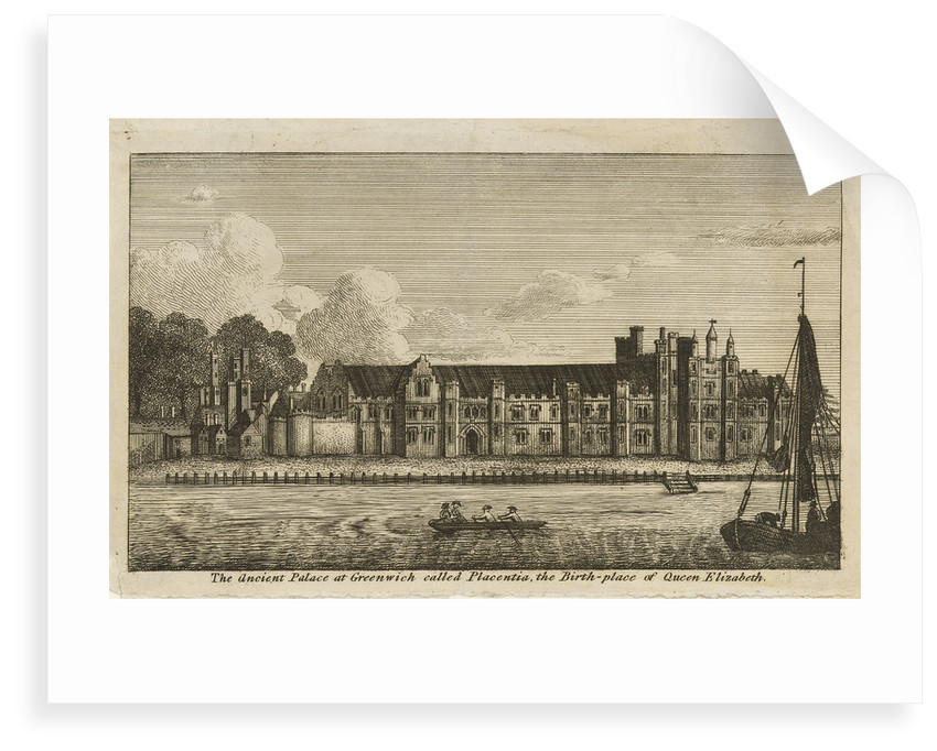 The Ancient Palace at Greenwich called Placentia, the Birth-place of Queen Elizabeth by James Basire