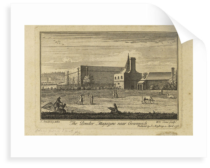 The powder magazine near Greenwich by J. Armstrong