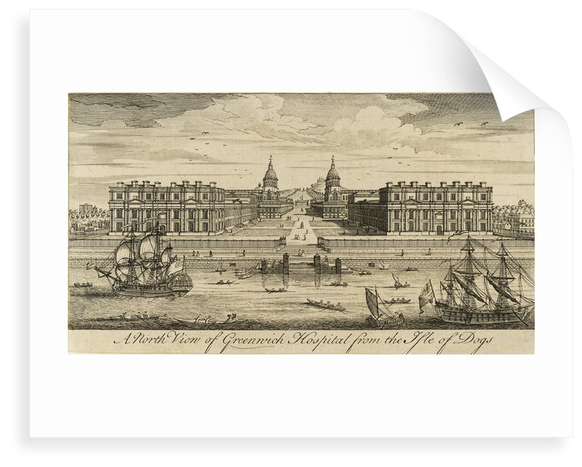 A north view of Greenwich Hospital from the Isle of Dogs by unknown
