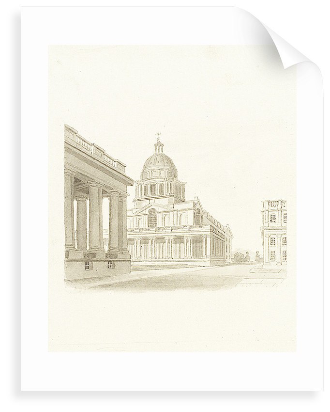Greenwich Hospital: the King William dome and Painted Hall (exterior) by unknown