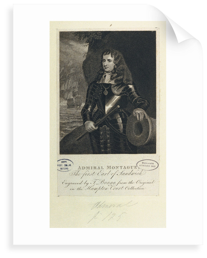 Admiral Montague by Peter Lely