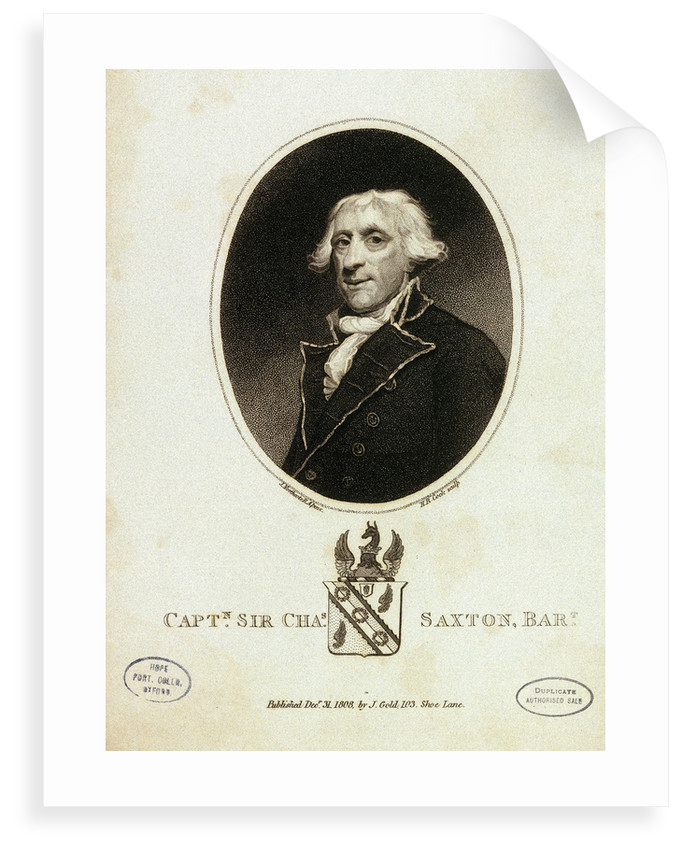 Captain Sir Chas Saxton by James Northcote