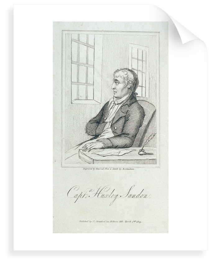 Captain Huxley Sandon by Thomas Rowlandson