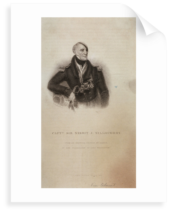 Captain Sir Nesbit J. Willoughby by Barber
