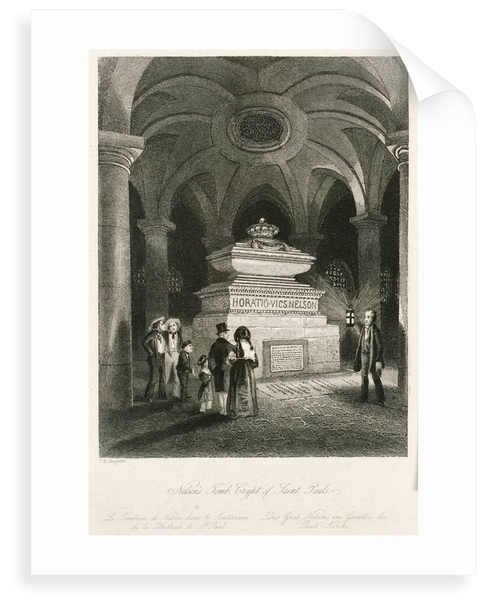 Nelson's Tomb, Crypt of Saint Pauls by Thomas Hosmer Shepherd