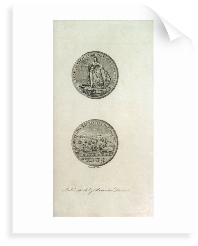 Medal to the memory of Horatio Nelson and the Battle of the Nile by P. Roberts