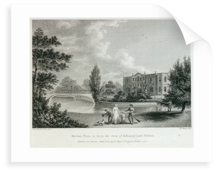 Merton Place in Surry, the Seat of Admiral Lord Nelson by Edward Hawke Locker