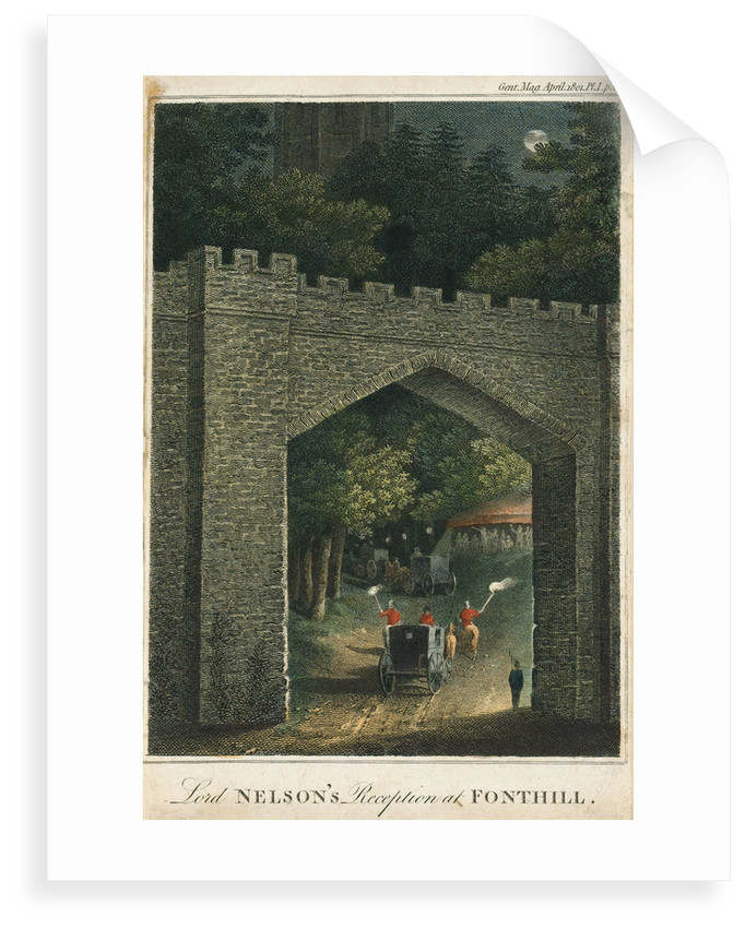 Lord Nelson's reception at Fonthill by unknown