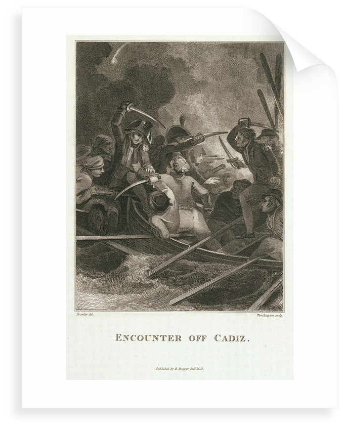 Encounter off Cadiz by William Bromley