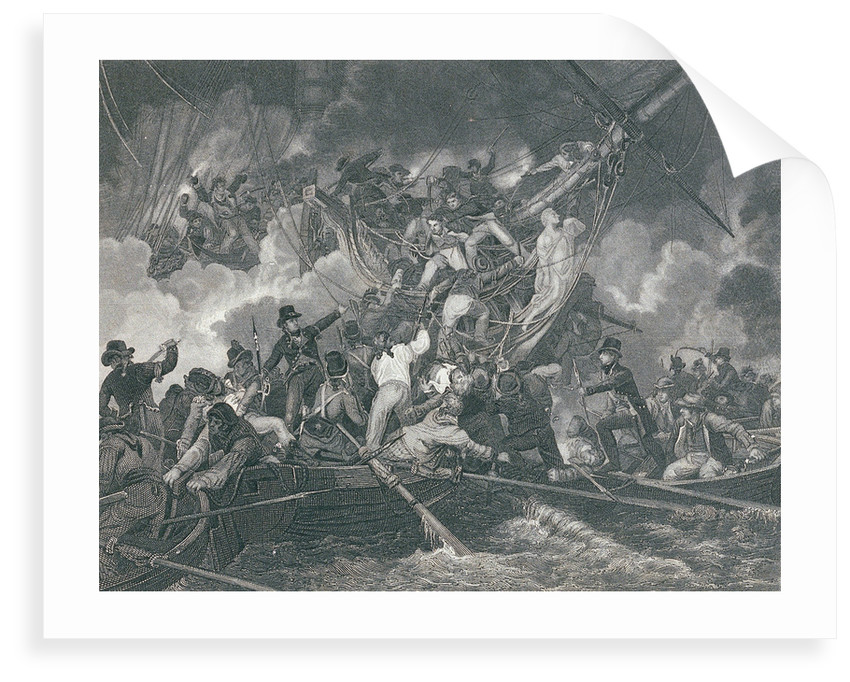 Action between 'Phoebe' and French frigate 'L'Africaine', 1 November1801, leading to the capture of the French ship by de Loutherbourg