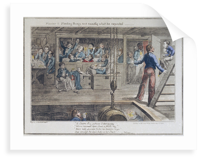 Midshipman Blockhead, Master B finding things not exactly what he expected by George Cruikshank