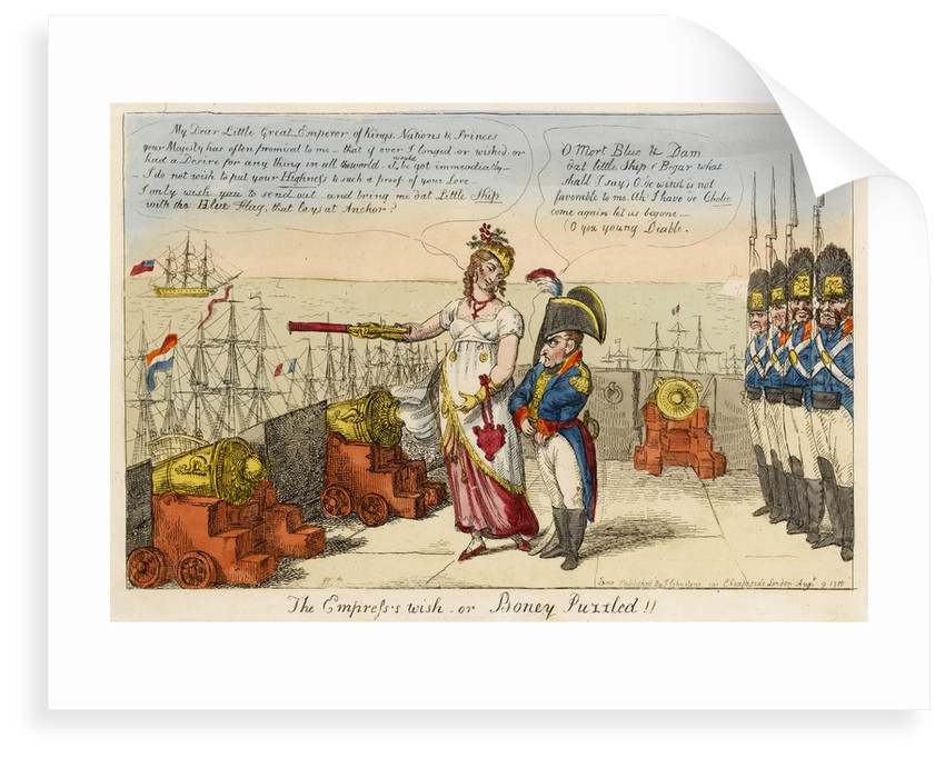 'The Empress's wish or Boney Puzzled!! by Isaac Cruikshank