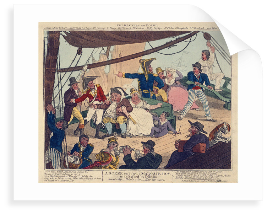 A scene on board a Margate Hoy as described by Dibden by John Fairburn