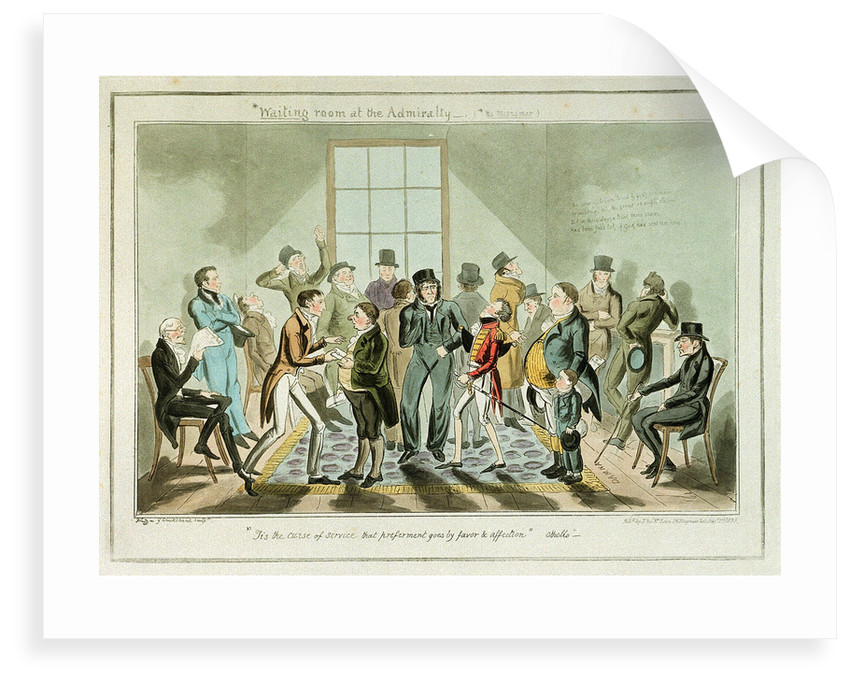 Waiting room at the Admiralty-(No Misnomer) by George Cruikshank