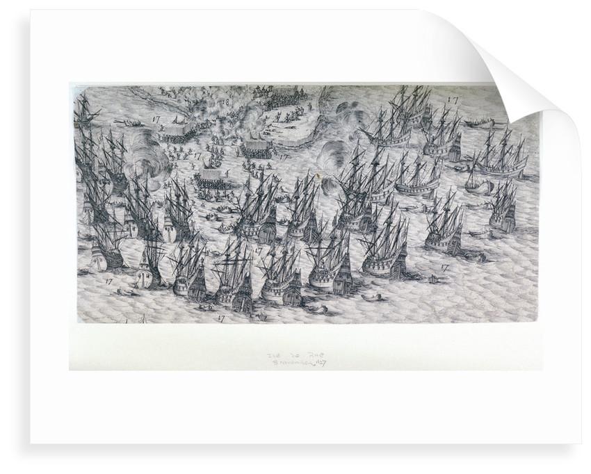 Ile de Rhe 8 November, 1627 by Jacques Callot