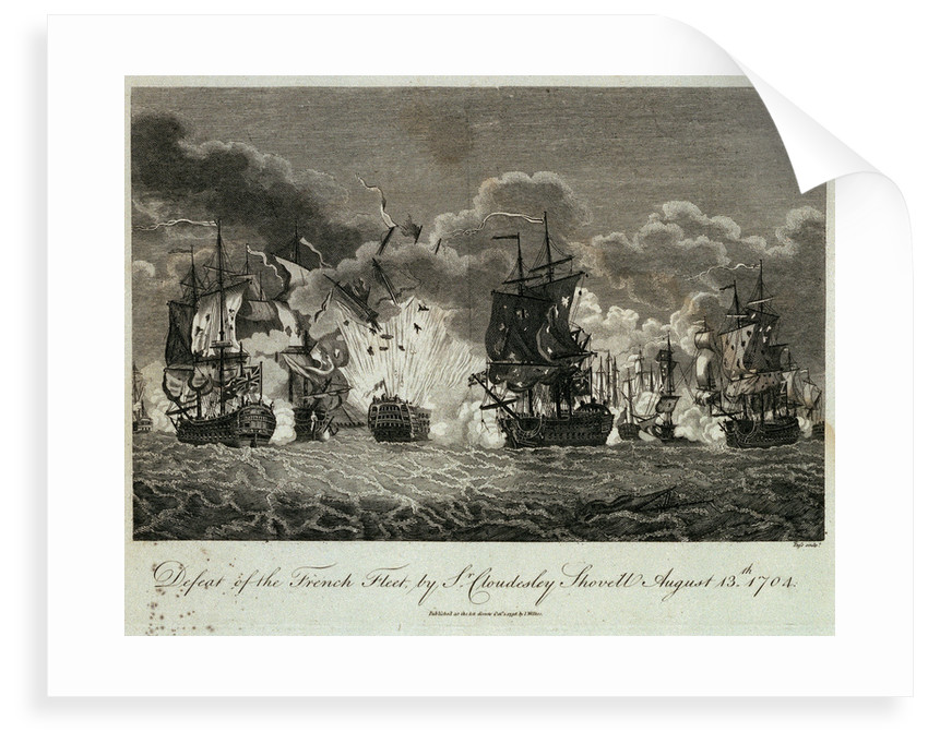 Defeat of the French fleet by Sr Cloudesley Shovell, 13 August 1704 by Pass