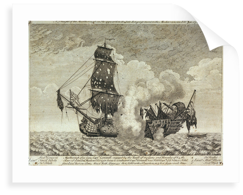 The 'Marlborough' in the Mediterannean, 11 February 1743 by unknown