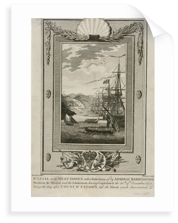 St Lucia in the West Indies, December 1778 by Hamilton