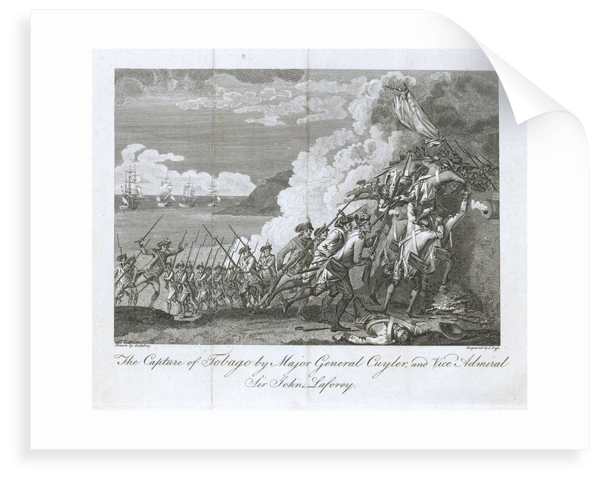 The capture of Tobago by Major General Cuyler, and Vice Admiral Sir John Laforey by Godefroy