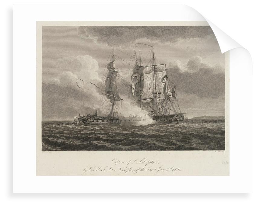 Capture of 'La Cleopatre' by HMS 'La Nymphe' off the Start, 18 June 1793 by Nicholas Pocock
