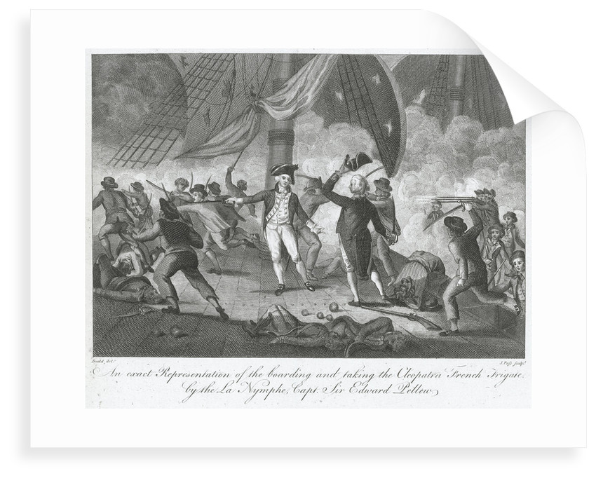 Capture of 'La Cleopatre' by HMS 'La Nymphe' off the Start, 18 June 1793 by Robert Dodd