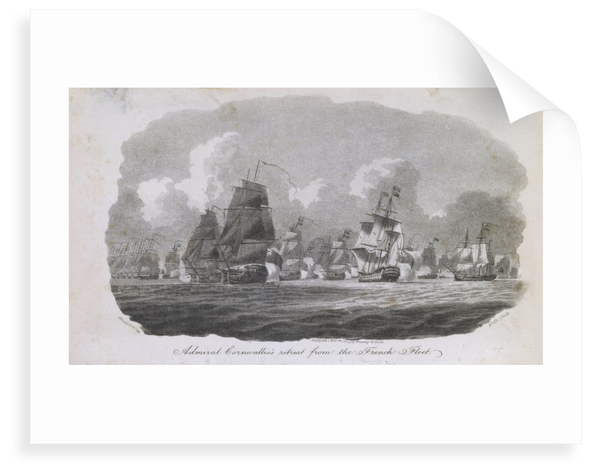 Admiral Cornwallis's retreat from the French fleet by William Anderson