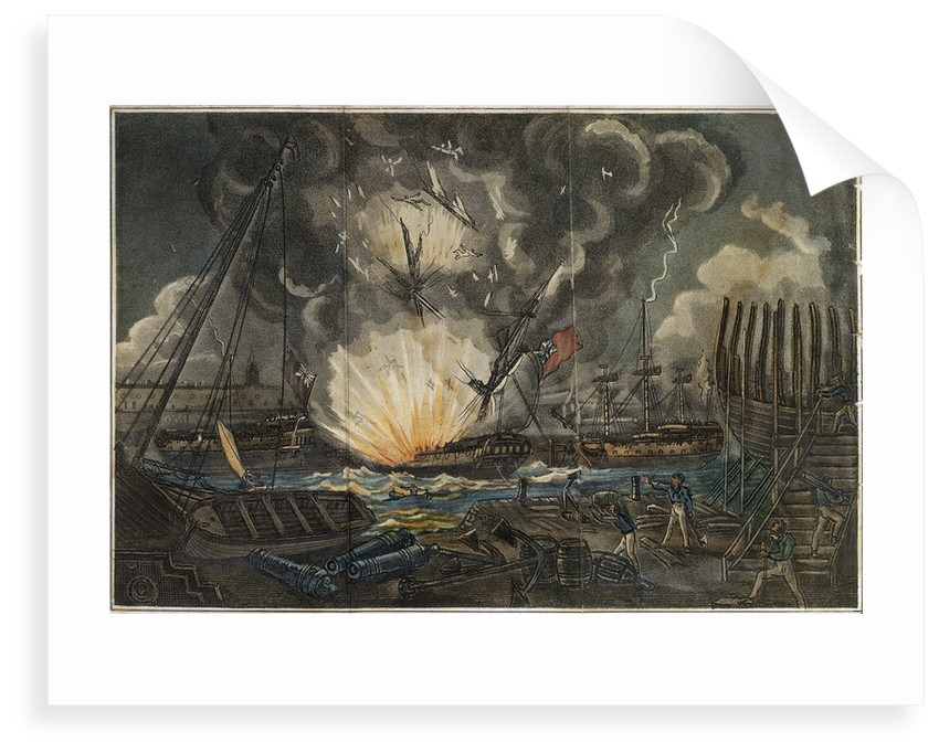 Dreadful Explosion of the Amphion frigate by unknown