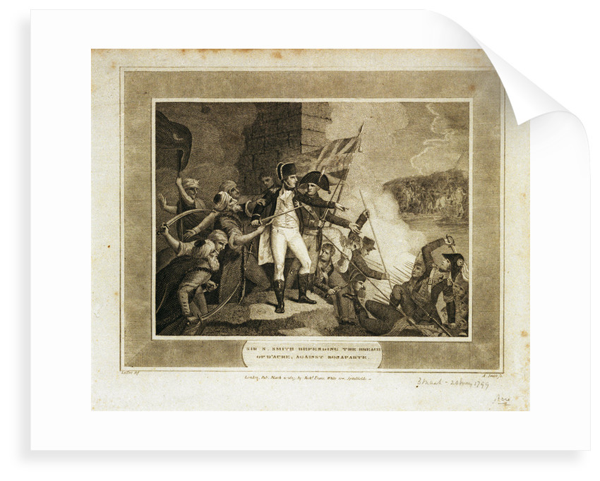 Sir S. Smith defending the breach of d' Acre against Bonaparte by Laffert