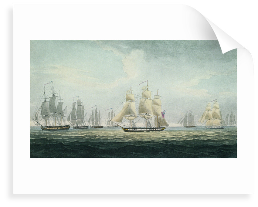 Sir Graham Moore's action, 5 October 1804 by Thomas Whitcombe