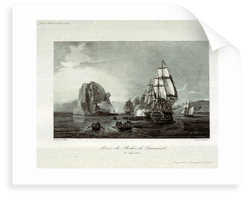 The taking of Rocher le Diamant (Diamond Rock), 25 June 1805 by M. Mayer