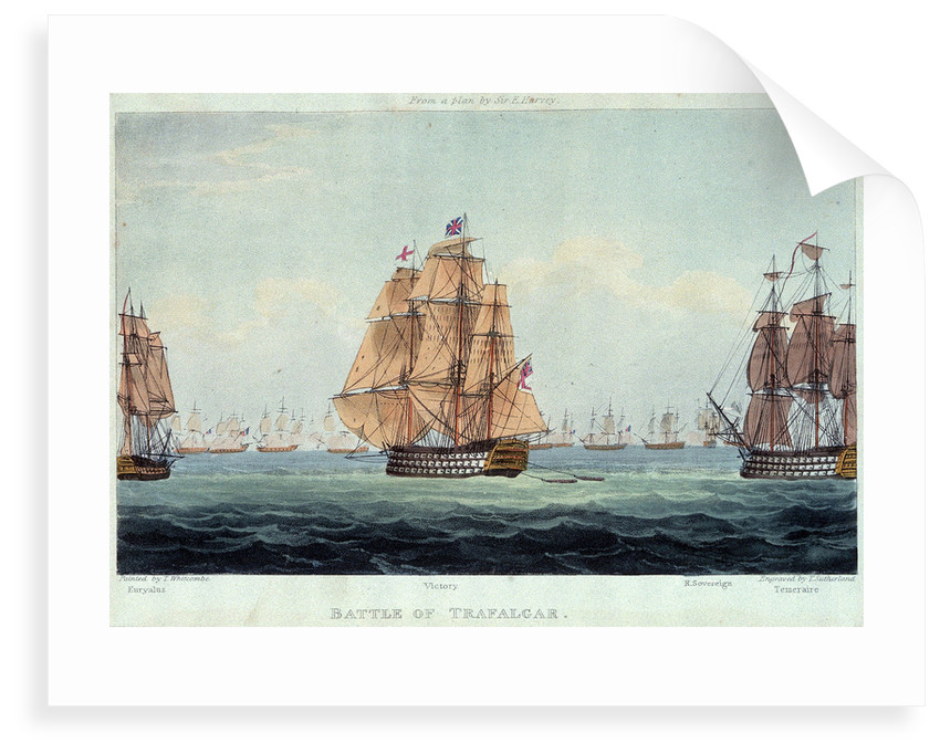 Battle of Trafalgar: 'Euryalus', 'Victory', 'Royal Sovereign' and 'Temeraire' by Thomas Whitcombe