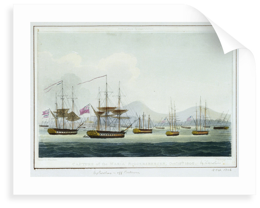 Capture of the 'Maria Riggersbergen', 18 October 1806 by Thomas Whitcombe