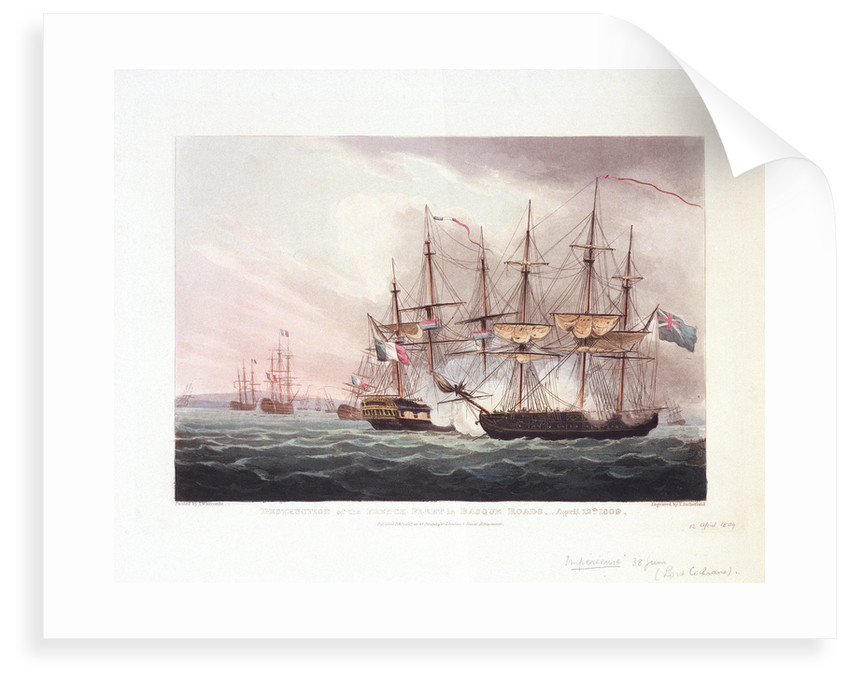 Destruction of the French fleet in Basque Roads, 12 April 1809 by Thomas Whitcombe
