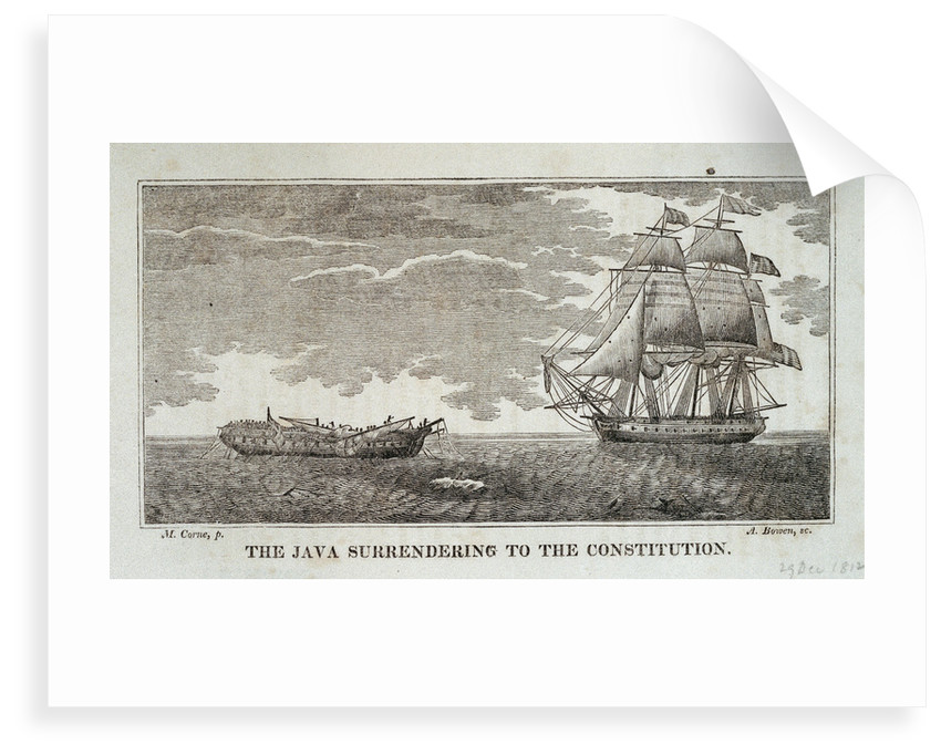 The 'Java' surrendering to the 'Constitution', 29 December 1812 by Michaele Felice Corne