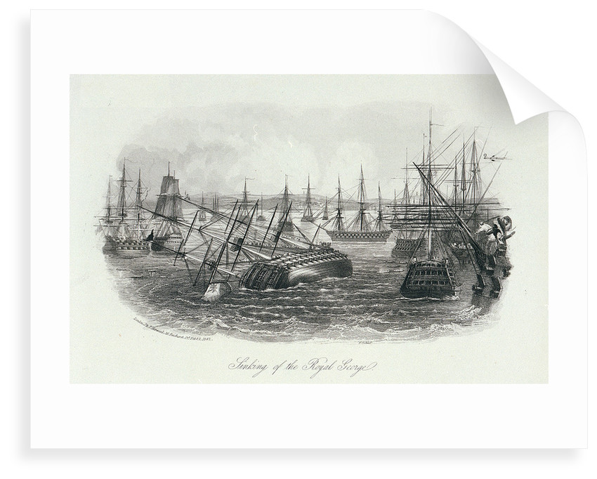 Sinking of the Royal George by J. & F. Harwood (publishers)