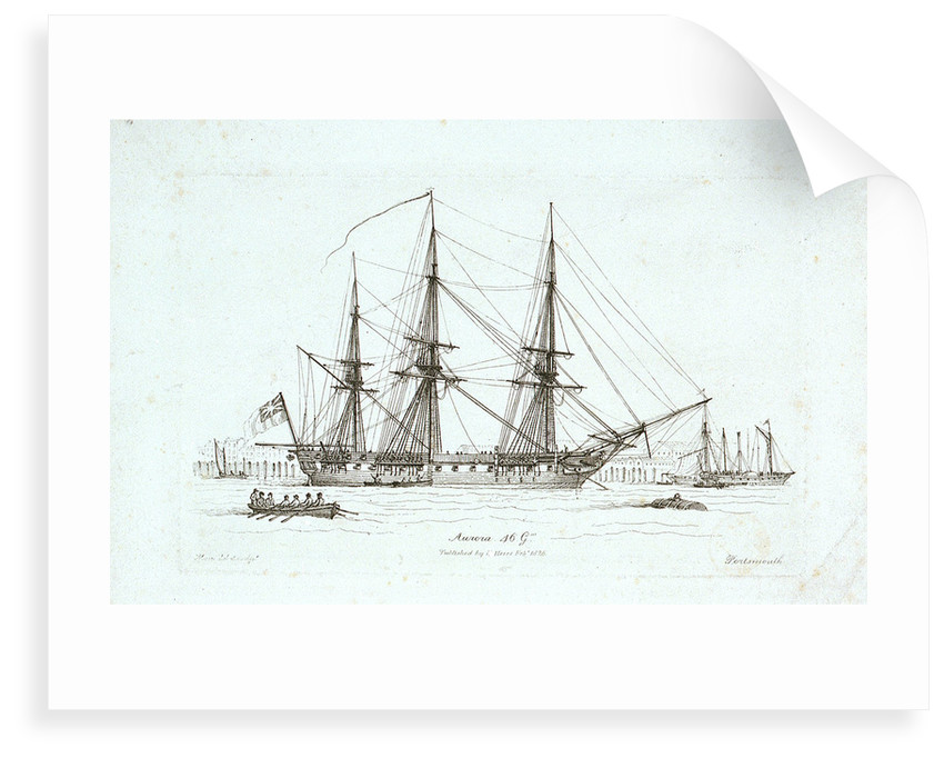 The 'Aurorah' 46 Guns, Portsmouth by Henry Moses