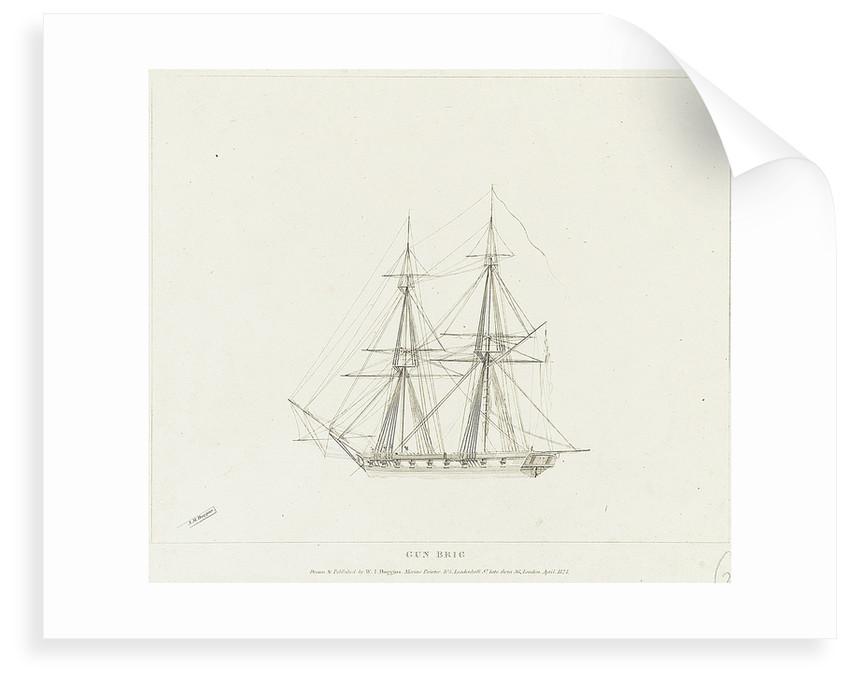 Gun brig by William John Huggins