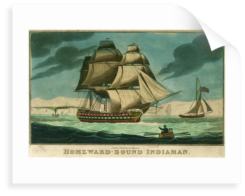 Homeward-bound Indiaman by John Fairburn