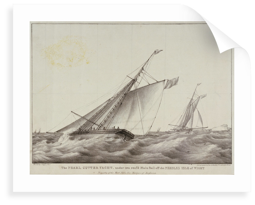 The cutter yacht 'Pearl' by J. Rogers Senior