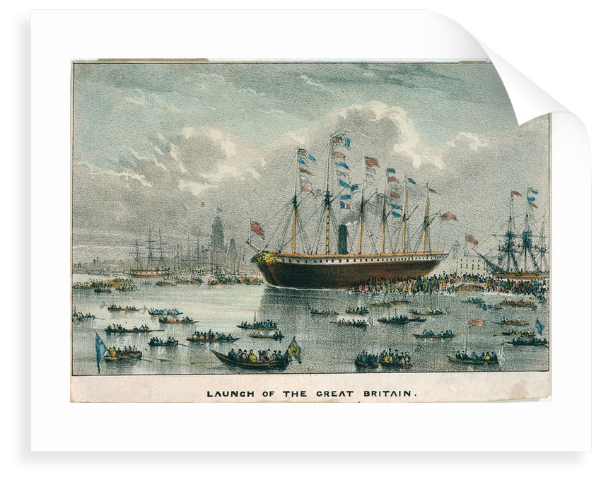 Launch of the 'Great Britain' by unknown