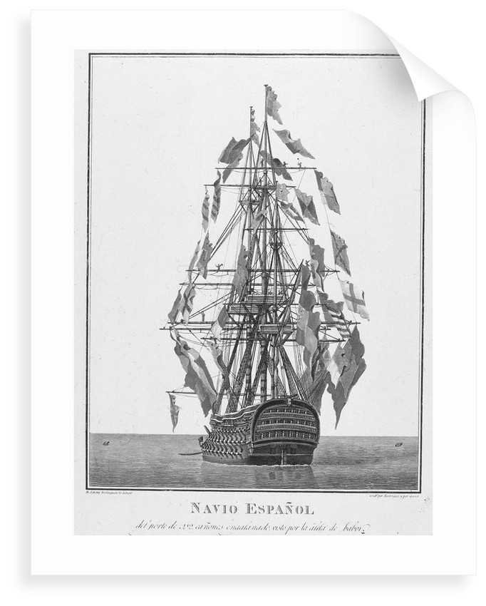 A Spanish warship by Augustin Berlinguero