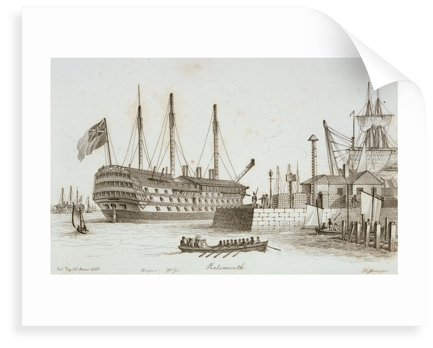 Sketches of shipping in Portsmouth harbour by Henry Moses