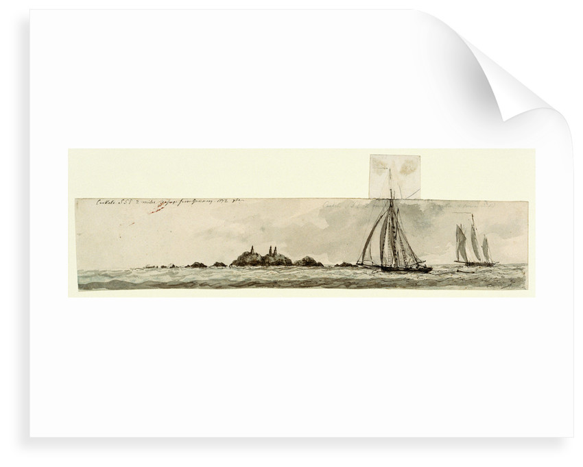 Caskets SSE two miles passage from Guernsey by Charles Gore