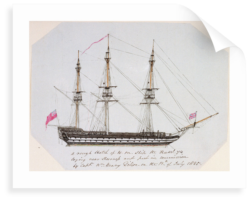 Sketch of HMS 'Russel' by unknown