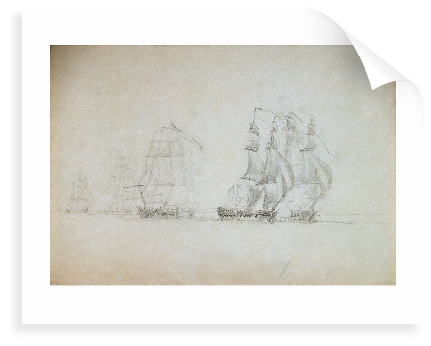 Warren's Action off Ireland, 12 October 1798 by Nicholas Pocock