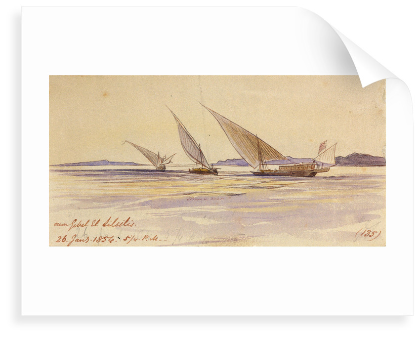 Near Gebel El Silsilis, Egypt by Edward Lear