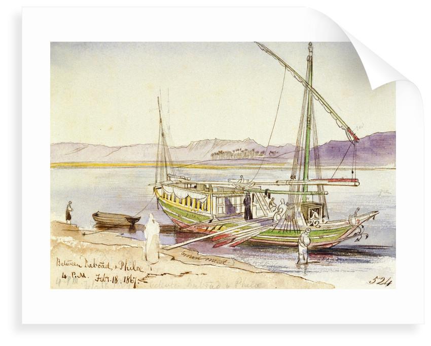 Between Daboad & Phila, Egypt by Edward Lear