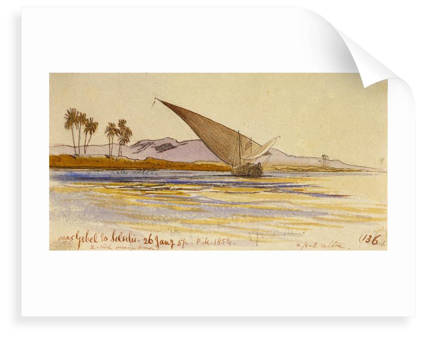 Near Gebel es Silsilas, Egypt by Edward Lear
