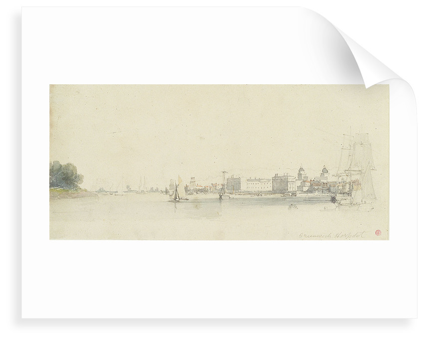 View of Greenwich Hospital from off Millwall by Edward Duncan
