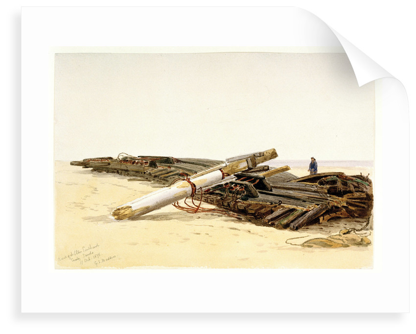 Wreck of the 'Ellen Southard' lying on Crosby Sands, 11 October 1875 by G.S. Walters